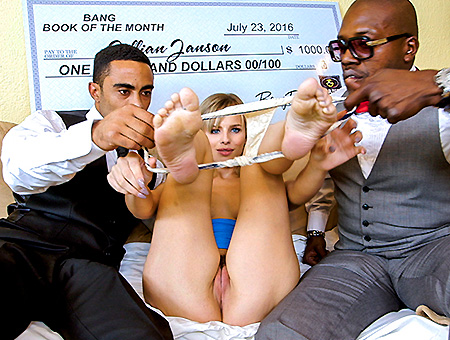 bangbros Jillian Janson wins two black cocks