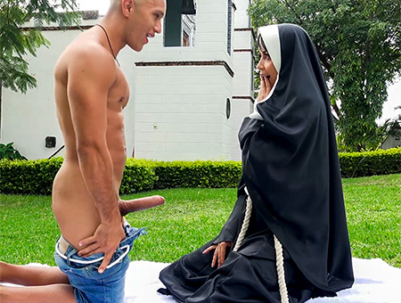 bangbros Dirty Nun Fucks The Gardener