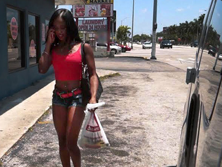 bangbros Ghetto Black Girl Gives Up Ass for Cash on BangBus