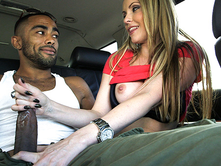 bangbros Blonde slut swallows an interracial load