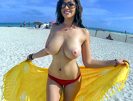 bangbros Hot Latina with big tits naked outdoors