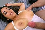 bigtitsroundasses Nina Lopez slangs oranges and a fat ass