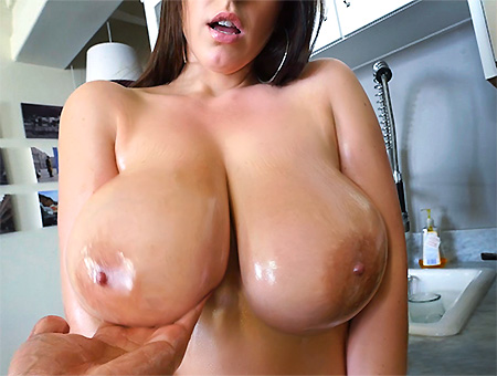 bangbros Angela White's 32 double g tits are breathtaking