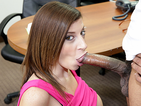 bangbros Sara Jay Sucks A Big Black Cock Until It Cums!