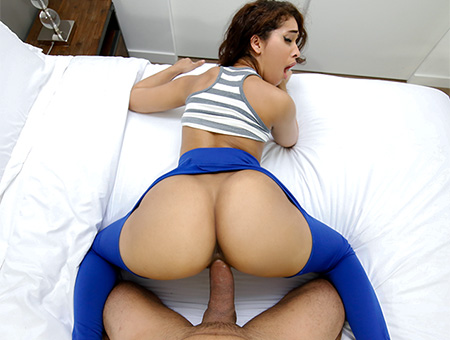 bangbros Ripping Kitty's Yoga Pants to free that Big Bootie