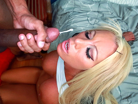 bangbros Blonde white girl swallows some big black cock