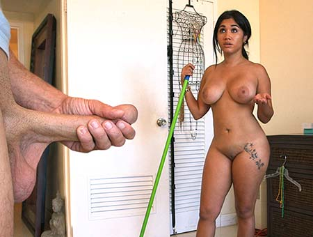 bangbros Big Booty Cuban Chick Cleans And Gets Fucked!