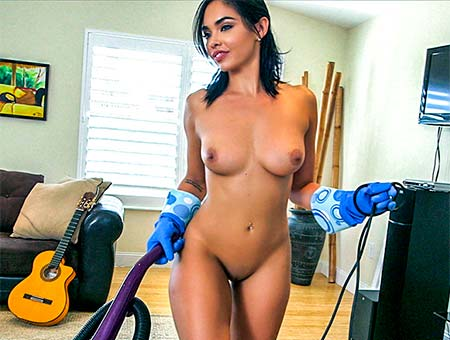 bangbros Hot Maid Polishes Knobs