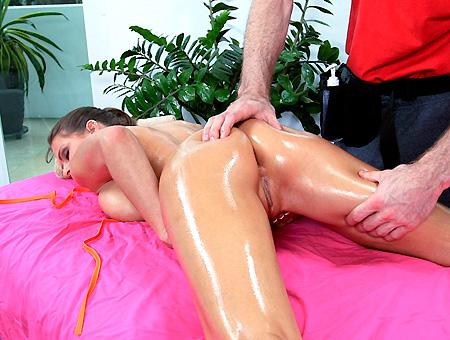 bangbros Sexy Brunette Massaged And Fucked Hardcore