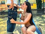 publicbang Natural Tit Brunette Fucked In Public