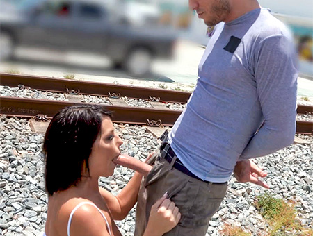 bangbros Adriana Squirts From Anal in Public